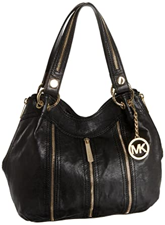 f83fe09cf55f Michael Kors Moxley Medium Shoulder Tote,Black,One Size: Amazon.co.uk:  Clothing