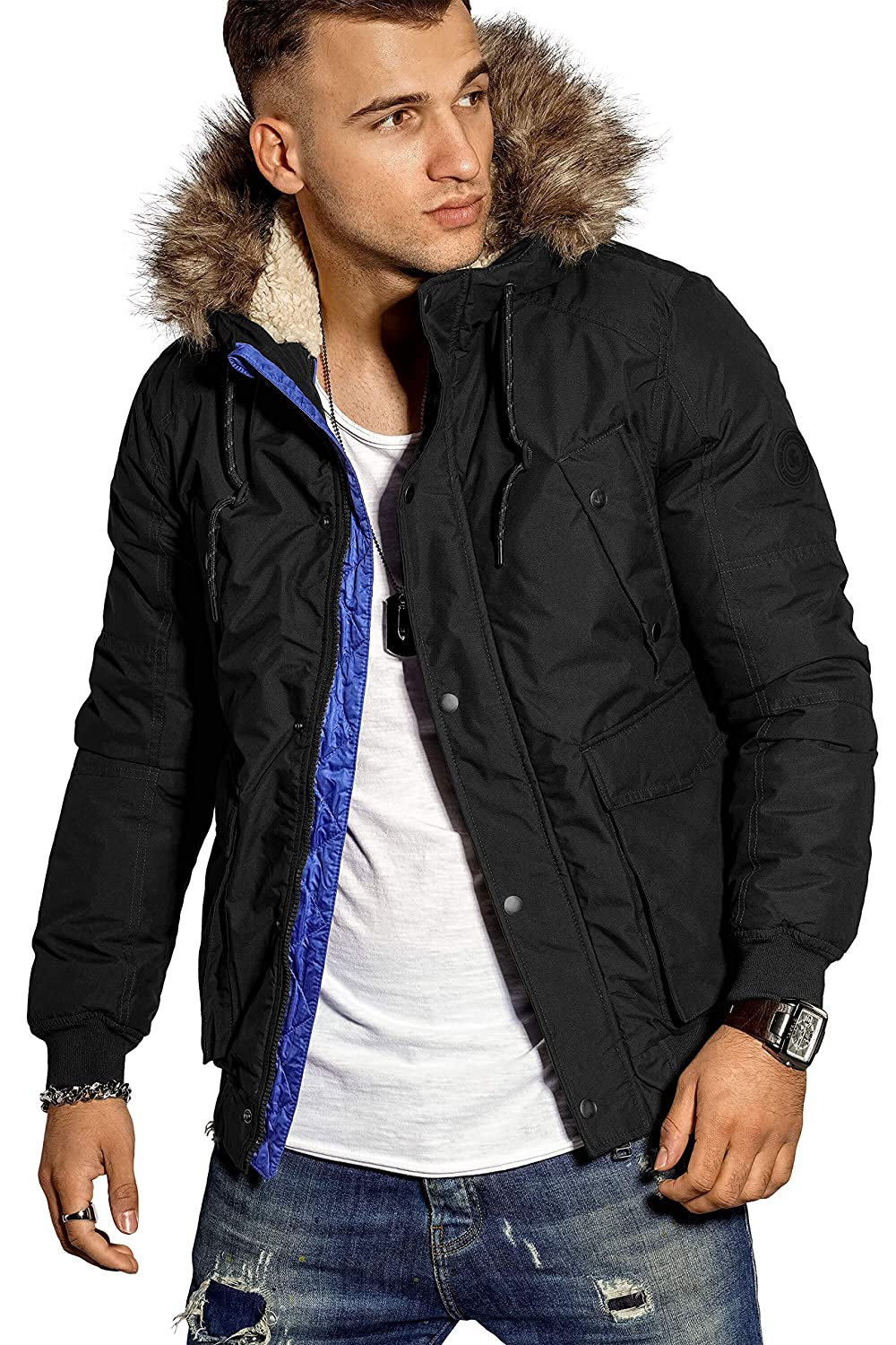 Jack /& Jones Mens Explore Bomber Jacket Black