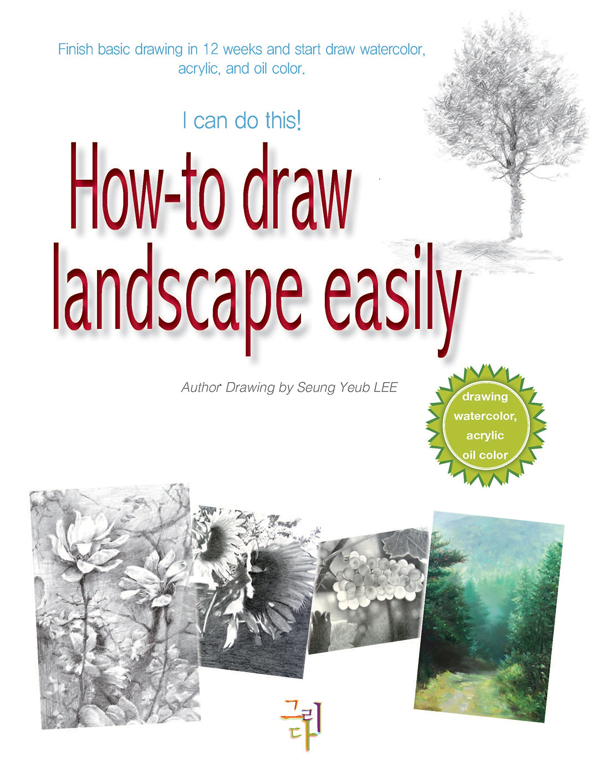 How To Draw Landscape Easily  Finish Basic Drawing In 12 Weeks And Start Draw Watercolor Acrylic And Oil Color.  English Edition