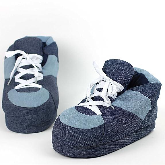 7cb7570dc4e15 Sleeper z - Chaussons Denim - Adulte Unisexe - Homme et Femme - XL   Amazon.fr  Chaussures et Sacs