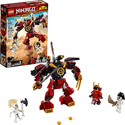 LEGO NINJAGO Legacy Samurai Mech 70665 Toy Mech Building Kit comes with NINJAGO Minifigures, Stud Shooters and a Toy Sword for Imaginative Play (154 ...