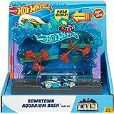 Hot Wheels City Downtown Aquarium Bashplay Set