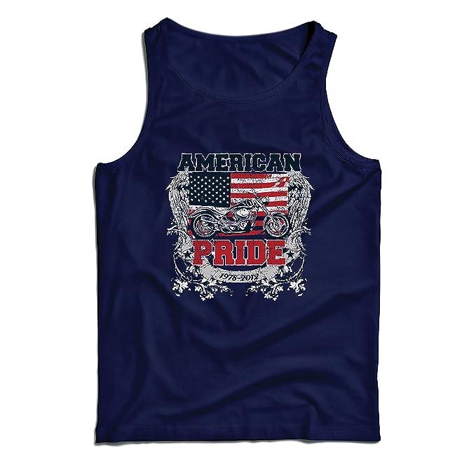lepni.me Camisetas de Tirantes para Hombre Classic American Pride Moto, Retro Motorcycle, Vintage Motobike (Medium Azul: Amazon.es: Ropa y accesorios