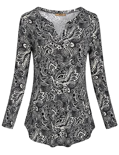 Miusey Women's V Neck Long Sleeve Open Front One-Button Side Pockets Hooded Cardigan