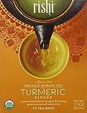 Rishi Tea Organic Herbal Tea Caffeine-Free Turmeric Ginger -- 15 Tea Bags