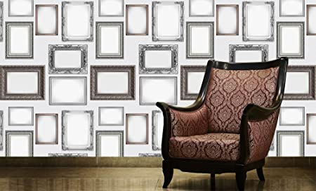 1 Wall Modern and Traditional Photo Picture Frame Collage Wallpaper ...