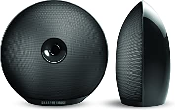 Amazon Com Sharper Image Sbt622bk 2 Bluetooth Speakers Rechargeable Sound System Portable Wireless Stereo Speakers Electronics