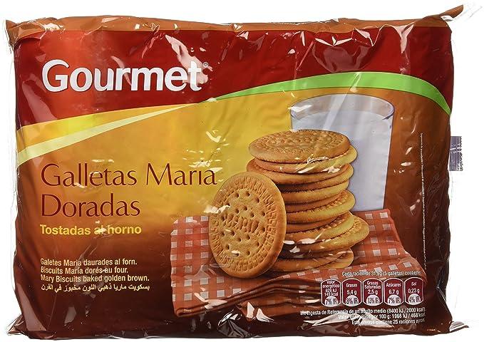 Gourmet - Galletas María Doradas - Bañada con aceite de girasol - 4 x 200 g