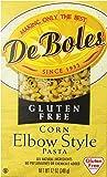 DeBoles Gluten Free Elbow Corn Pasta, 12 Ounce (Pack of 12)