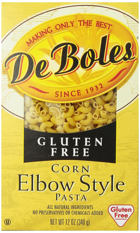 Amazon Com Deboles Gluten Free Elbow Corn Pasta 12 Ounce Pack Of 12 Macaroni Pasta Grocery Gourmet Food