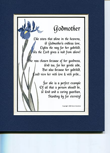 Amazon A Mothers Day Birthday Gift Present Poem For Godmother 146 Home Kitchen