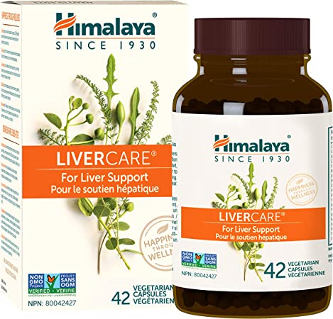 Himalaya LiverCare/Liv. 52 for Total Liver Support, Cleanse and Detox, Protects Cells & Enzymes, 375 mg, 42 Capsules, 3 Week Supply