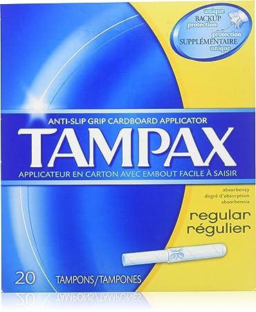 Tampax Regular 20 Tampons Tampons at amazon