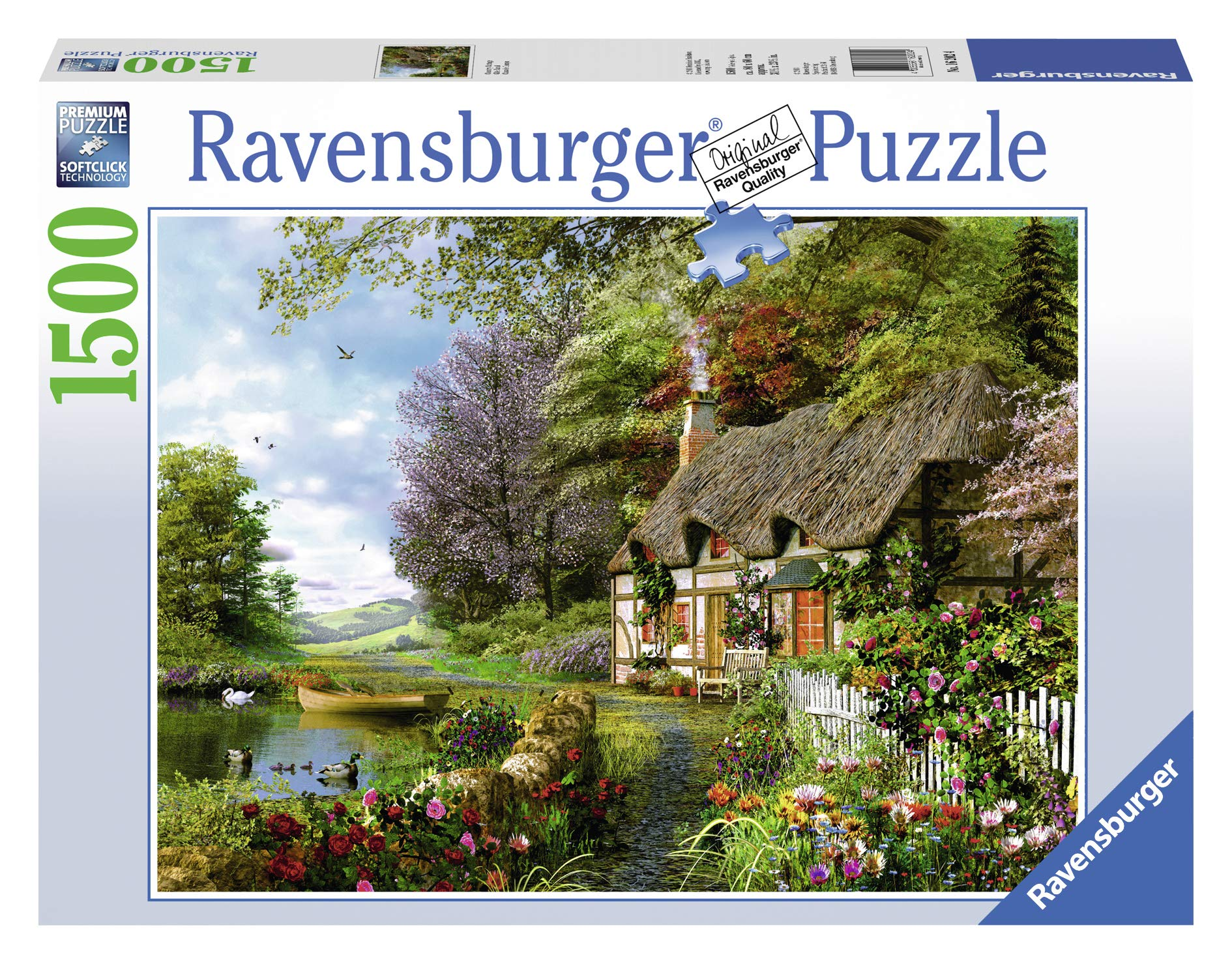 Ravensburger Country Cottage 1500 Piece Jigsaw Puzzle for Adults – Softclick Technology Means Pieces Fit Together Perfectly