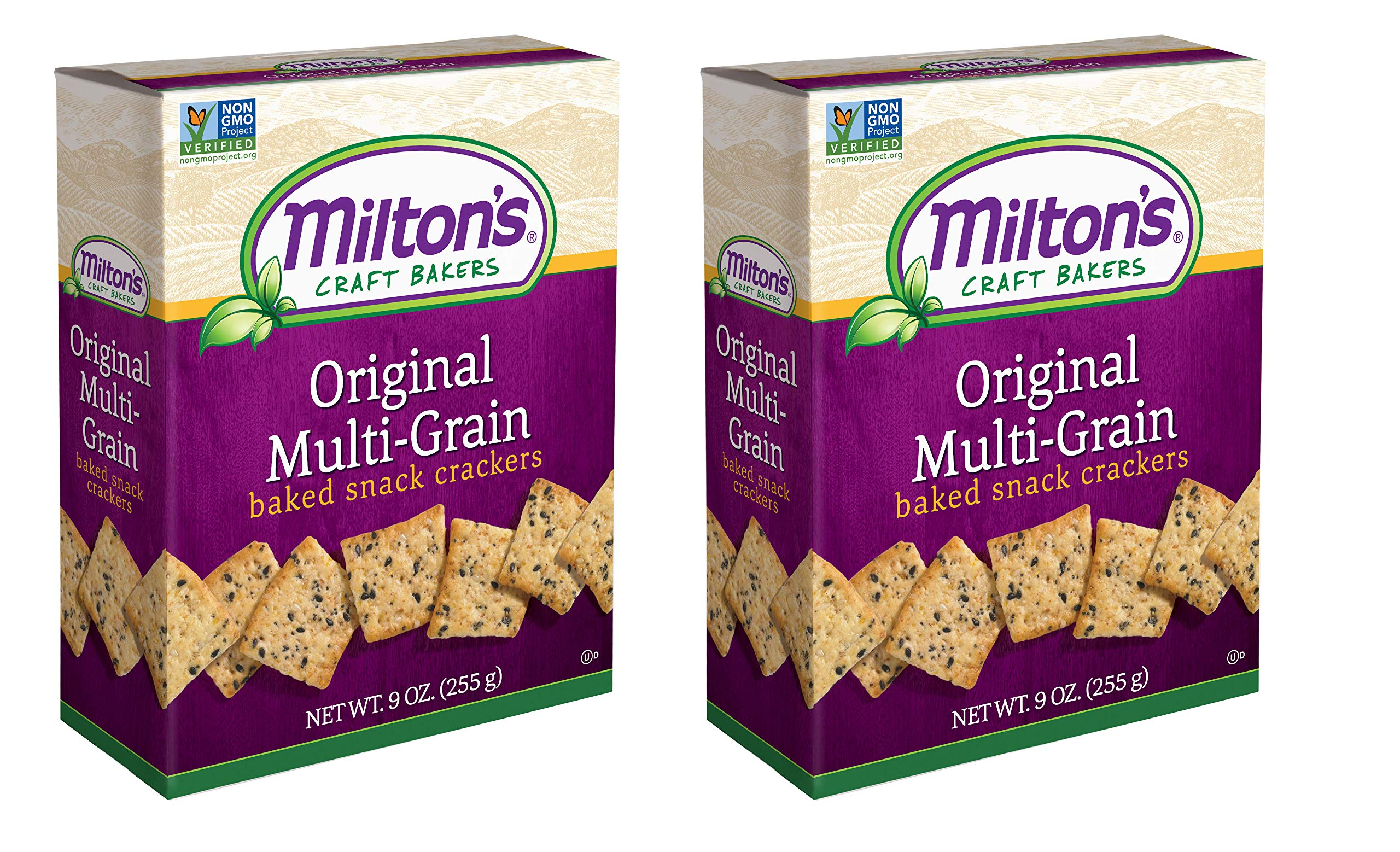 Milton's Snack Crackers (Multi-Grain). Multi Pack of Multi-Grain Non-GMO Baked Crackers (Pack of 2, 6.5 ounce box). by Milton's Craft Bakers