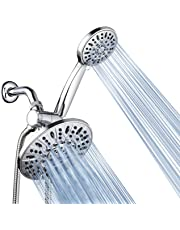 """AquaDance 3328 7"""" Premium High Pressure 3-Way Rainfall Combo for The Best of Both Worlds-Enjoy Luxurious Rain Showerhead and 6-Setting Hand Held Shower Separately or Together-Chrome Finish"""