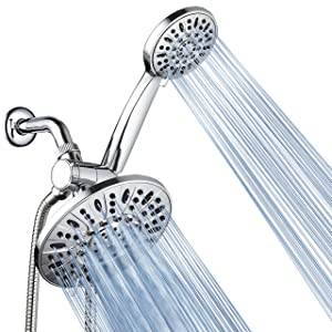 "AquaDance 3328 7"" Premium High Pressure 3-Way Rainfall Combo for The Best of Both Worlds-Enjoy Luxurious Rain Showerhead and 6-Setting Hand Held Shower Separately or Together-Chrome Finish"