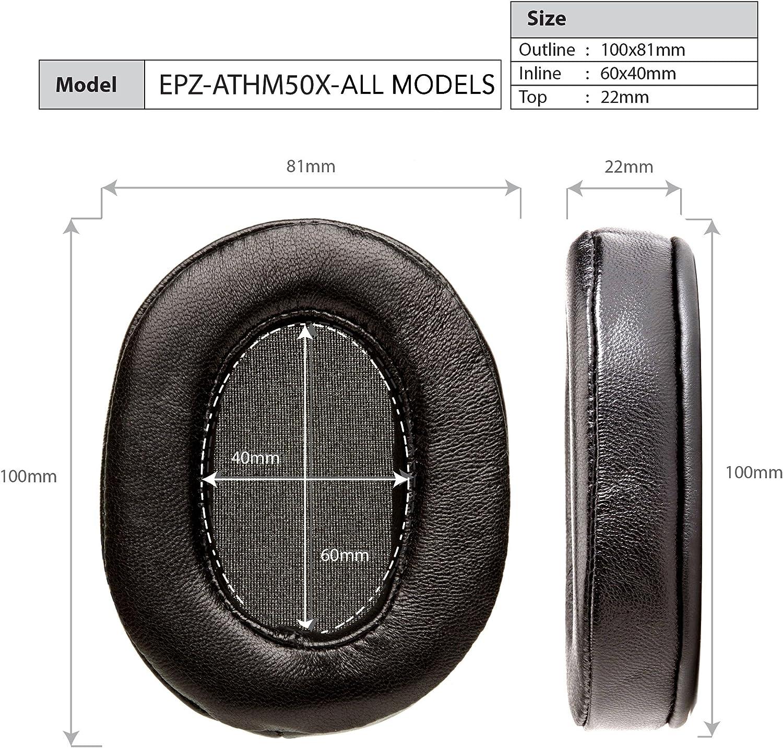 Dekoni Audio Protein Leather Earpads for Audio Technica ATHM and Sony 7506 Series Headphones Platinum Series