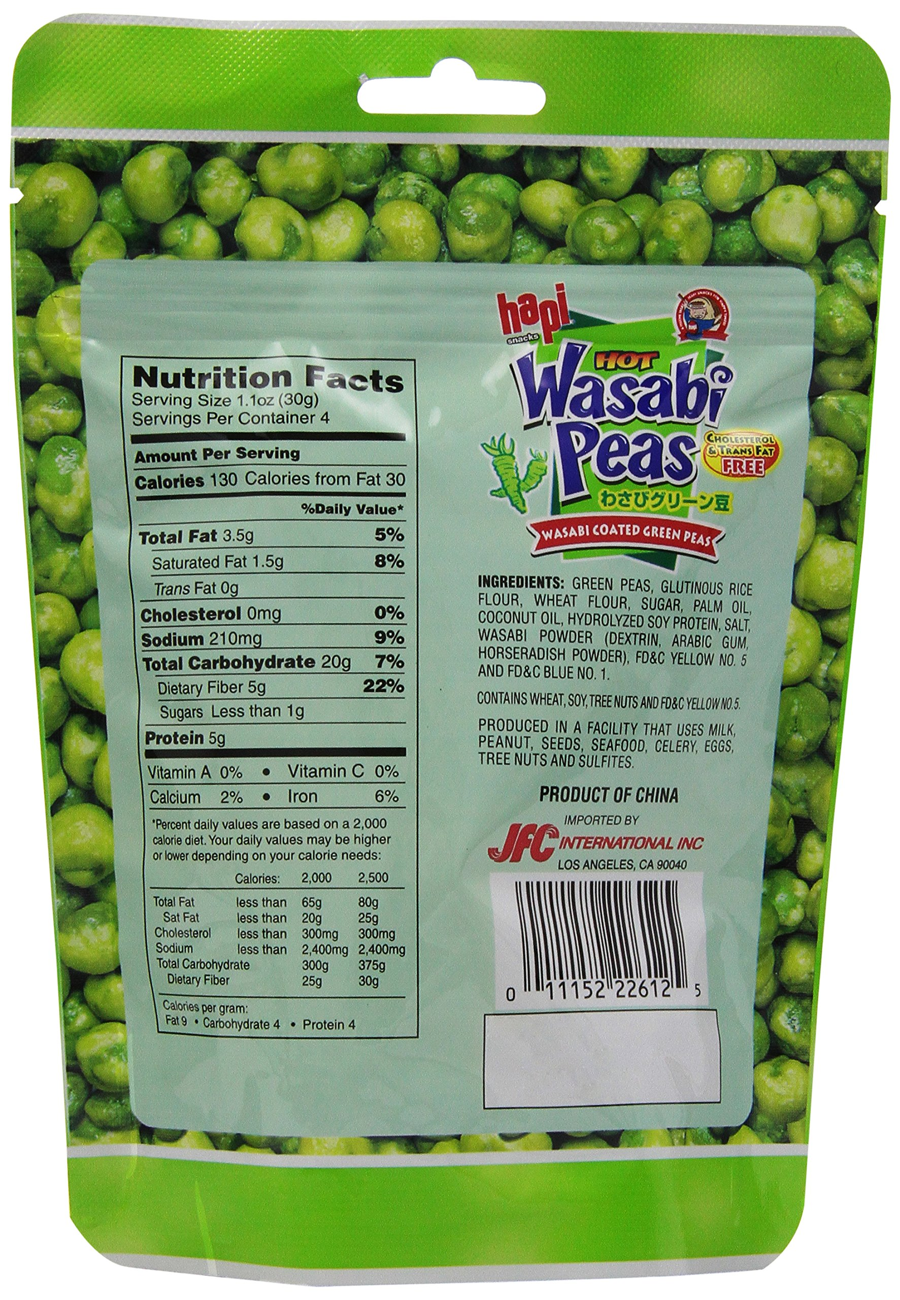 Hapi Wasabi Pea Pouch, 4.23 Ounce (Pack of 12) by HAPI (Image #4)