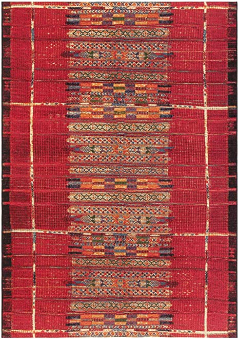 Liora Manne Marina Indoor Outdoor Rug 1 11 X 7 6 Tribal Stripe Red Furniture Decor