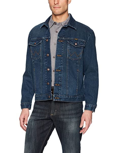 Wrangler Mens Western Style Unlined Denim Jacket