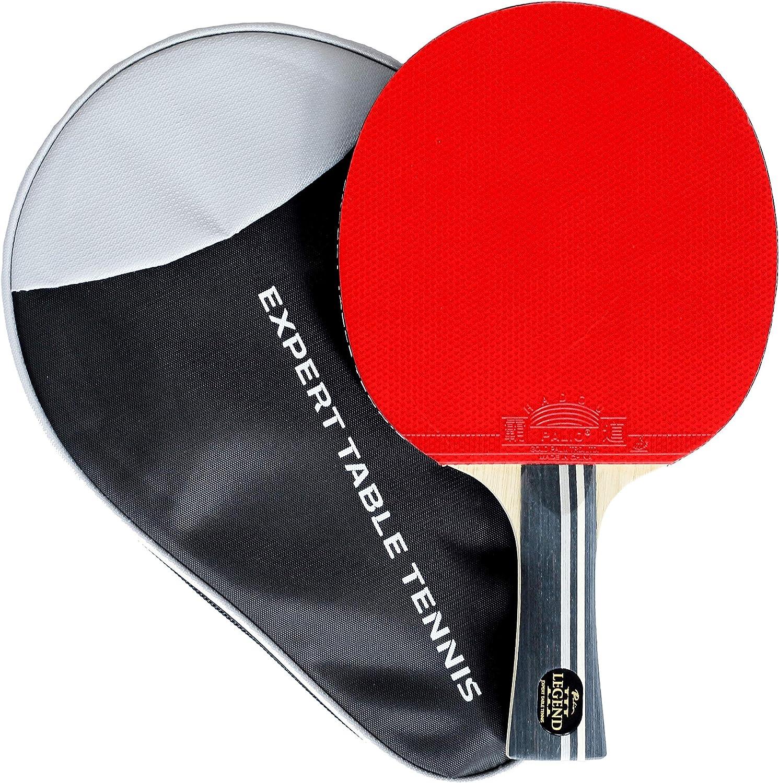 Palio Legend 3.0 - Raqueta de Tenis de Mesa y Funda - Aprobado por la ITTF - Acampanado - Advanced Ping Pong, Bat, Paddle