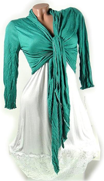 reputable site dc18b 5b24a Italy Moda Women's Bolero Jacket Turquoise Turquoise: Amazon ...