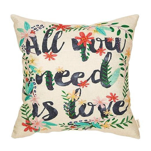 Fahrendom All You Need is Love - Funda de cojín para sofá de ...