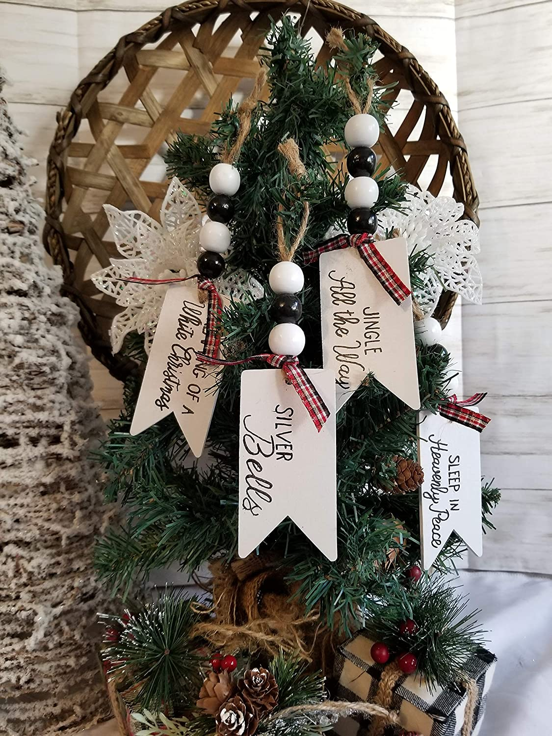 Personalized Rae Dunn Inspired Christmas ornaments