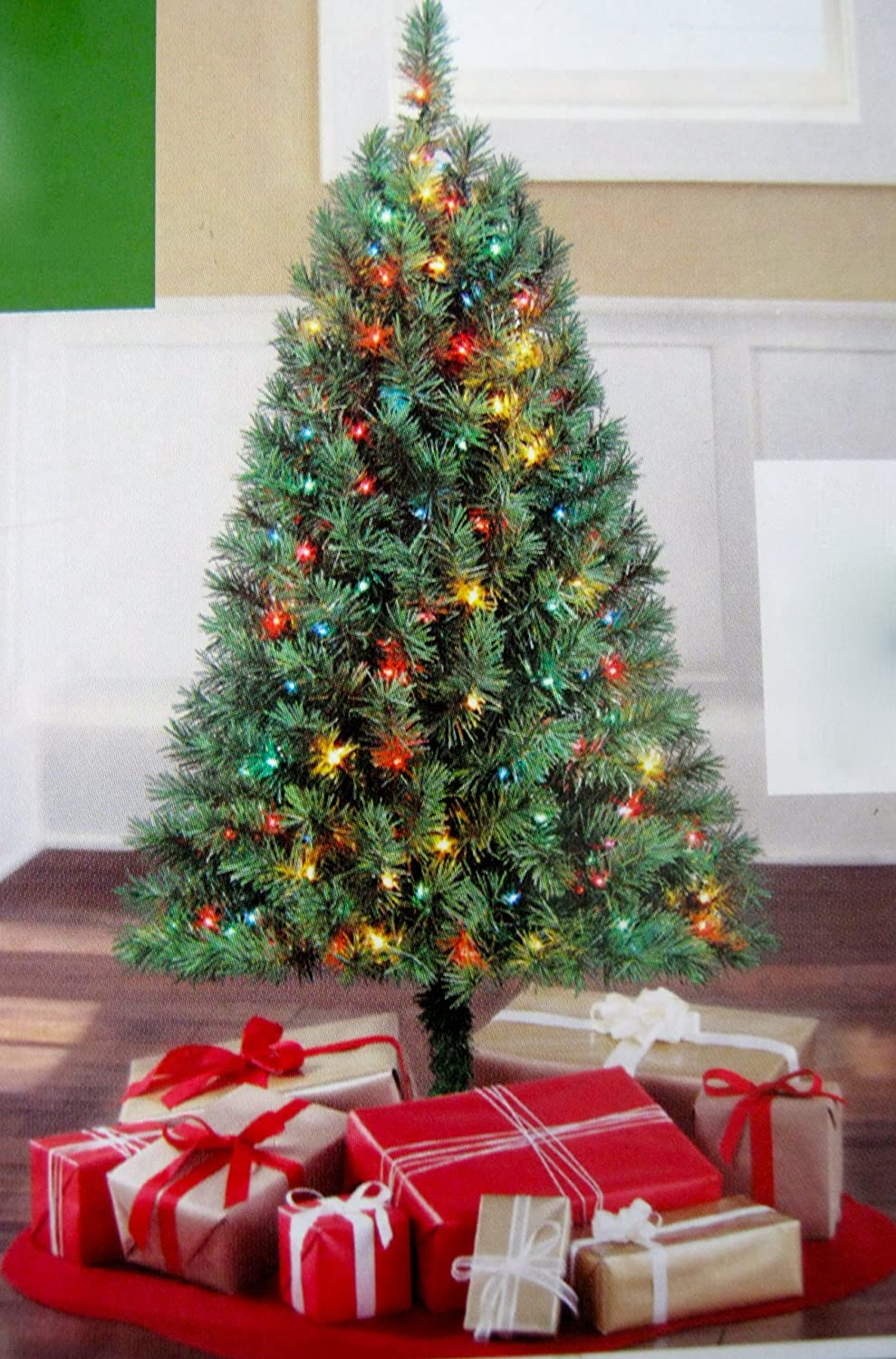 Amazon.com: Indiana Spruce Green 4 Ft Artificial Tree: Home & Kitchen