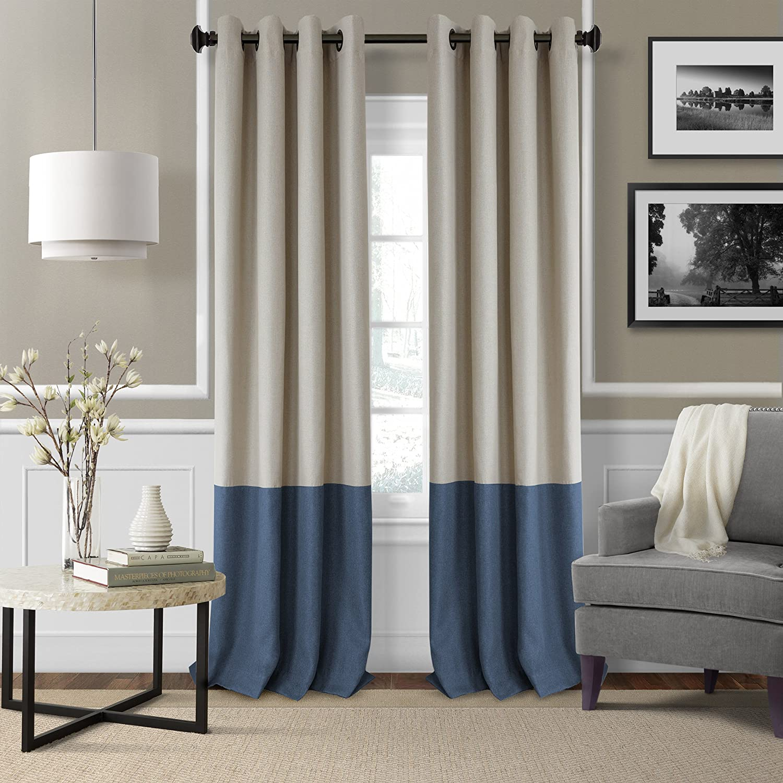 Elrene Home Fashions 26865874730 Braiden Room Darkening Grommet Window Curtain Drape Panel, 52