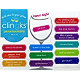 Clingks 12 Drink Markers - BUNCO NIGHT - Fun Alternative to Wine Charms