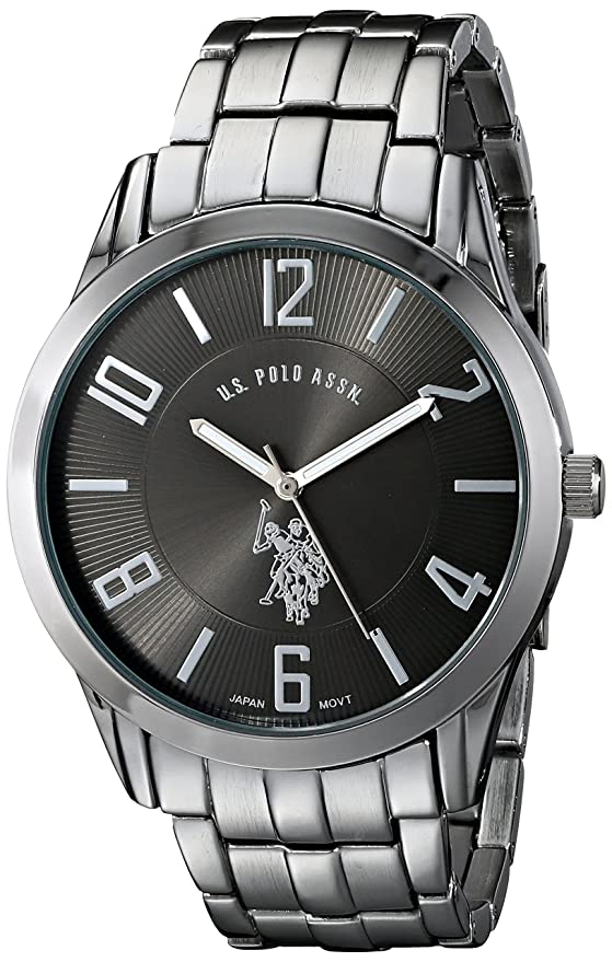 amazon com u s polo assn classic men s usc80038 gunmetal tone amazon com u s polo assn classic men s usc80038 gunmetal tone dial watch watches