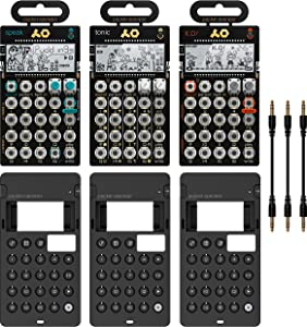 Teenage Engineering PO-30 Pocket Operator Metal Series Super Set Bundle with 3-Pack of CA-X Silicone Cases, and Blucoil 3-Pack of 7
