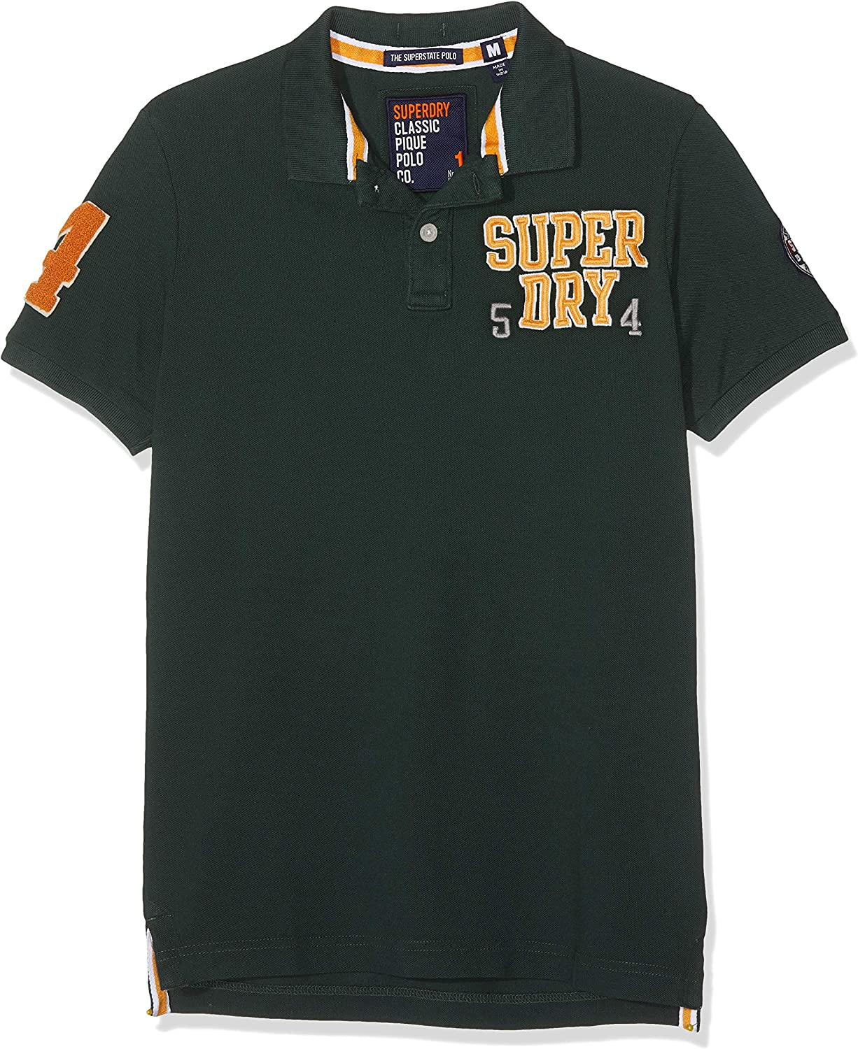 Superdry Oldskool Superstate Pique Polo, Verde (Highland Green Ugs ...