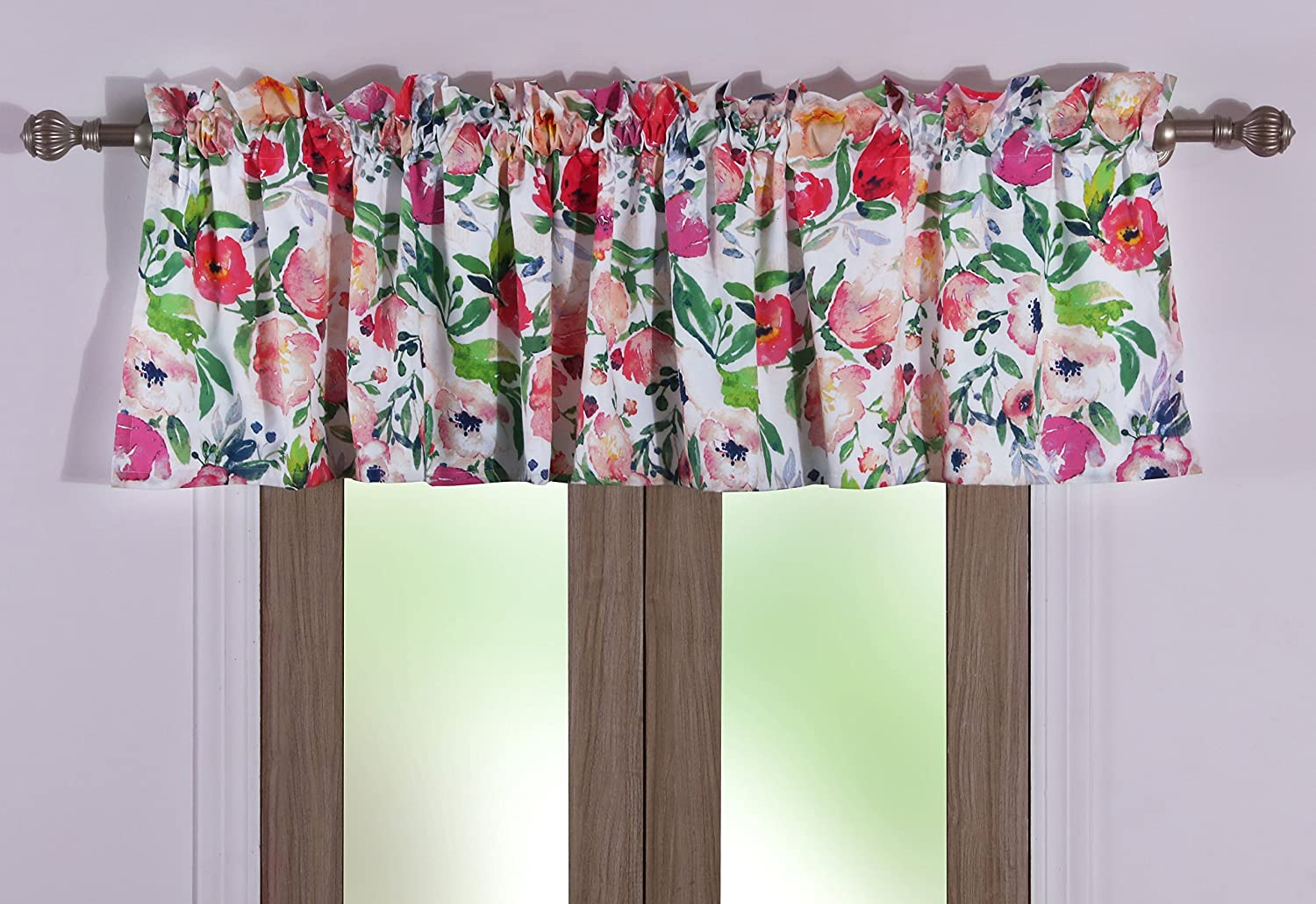 Barefoot Bungalow Blossom Valance, Multicolor