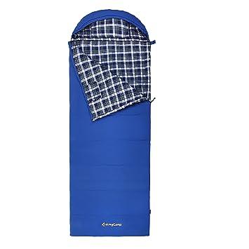 Kingcamp todos temporada 5 F/-15 C POLY-COTTON saco de dormir algodón forro de franela con almohada (Reina, jóvenes, talla DE adulto): Amazon.es: Deportes y ...
