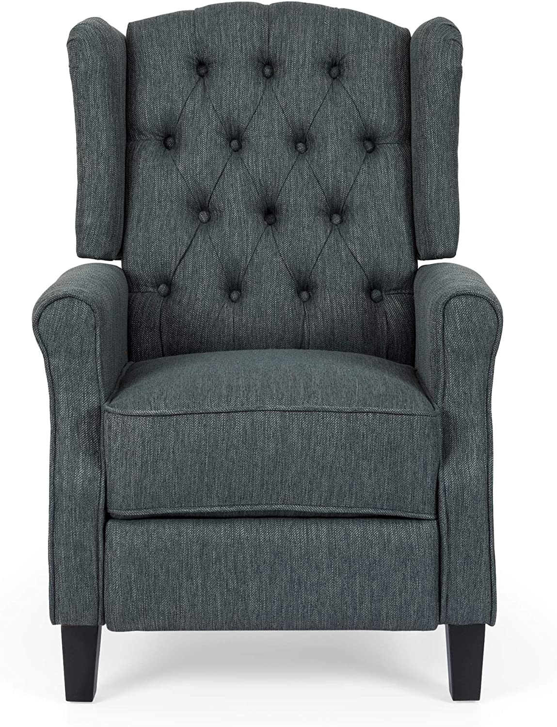 Christopher Knight Home Sarah Fabric Recliner, Charcoal, Dark Brown
