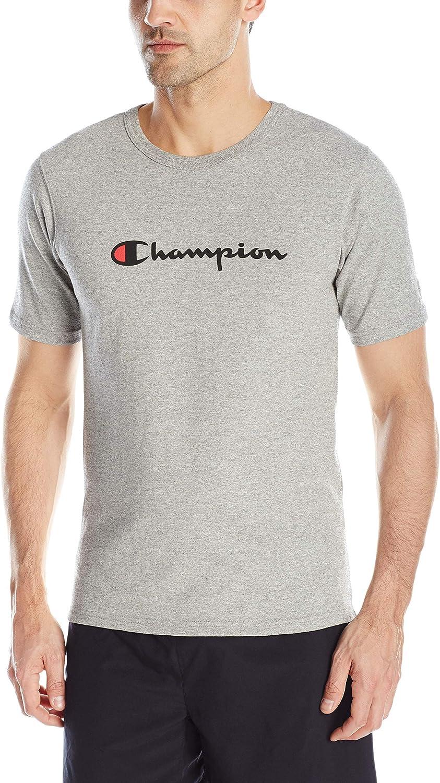 C PATCH APPLIQUE//GROOVY PAPAYA Champion LIFE Mens Heritage Tee Medium