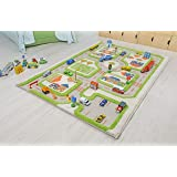 IVI Traffic 3D Play Rugs, Green, Small