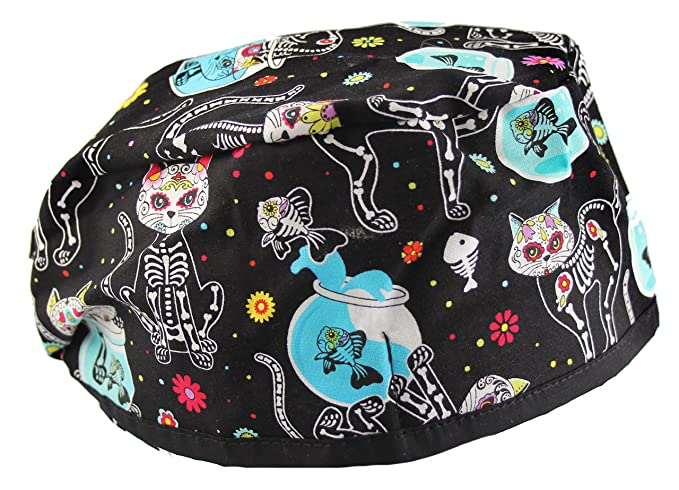 Amazon.com  Funny Colorful X-Ray Cats Scrub Cap Hat  Clothing 0505701b327