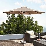 [casa.pro] Sun Umbrella  Sun Protection  Sun Shade  Parasol  Balcony  Terrace  Cream