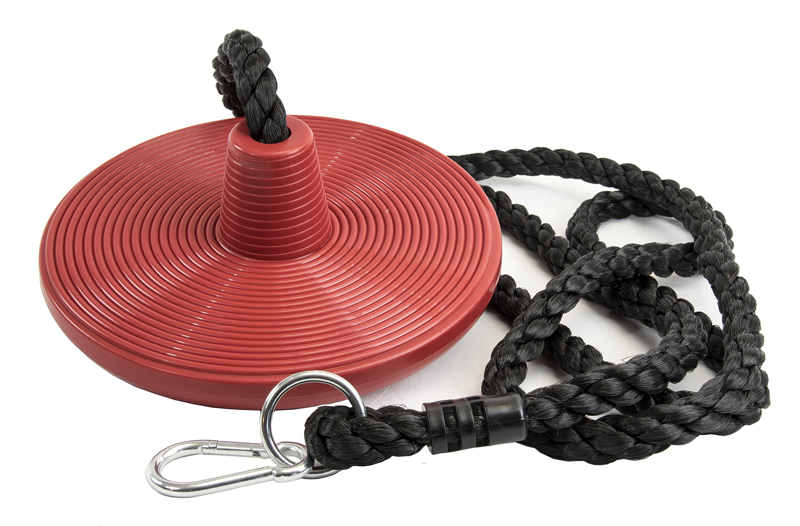 Tree Swing Rope Swing Disc - with Leg Safety Protector & 1'' Heavy Duty Rope, Red