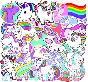 Cute Unicorn Sticker Pack of 50 Stickers Unicorn Decals for Laptops Hydro Flasks Water Bottles Luggage