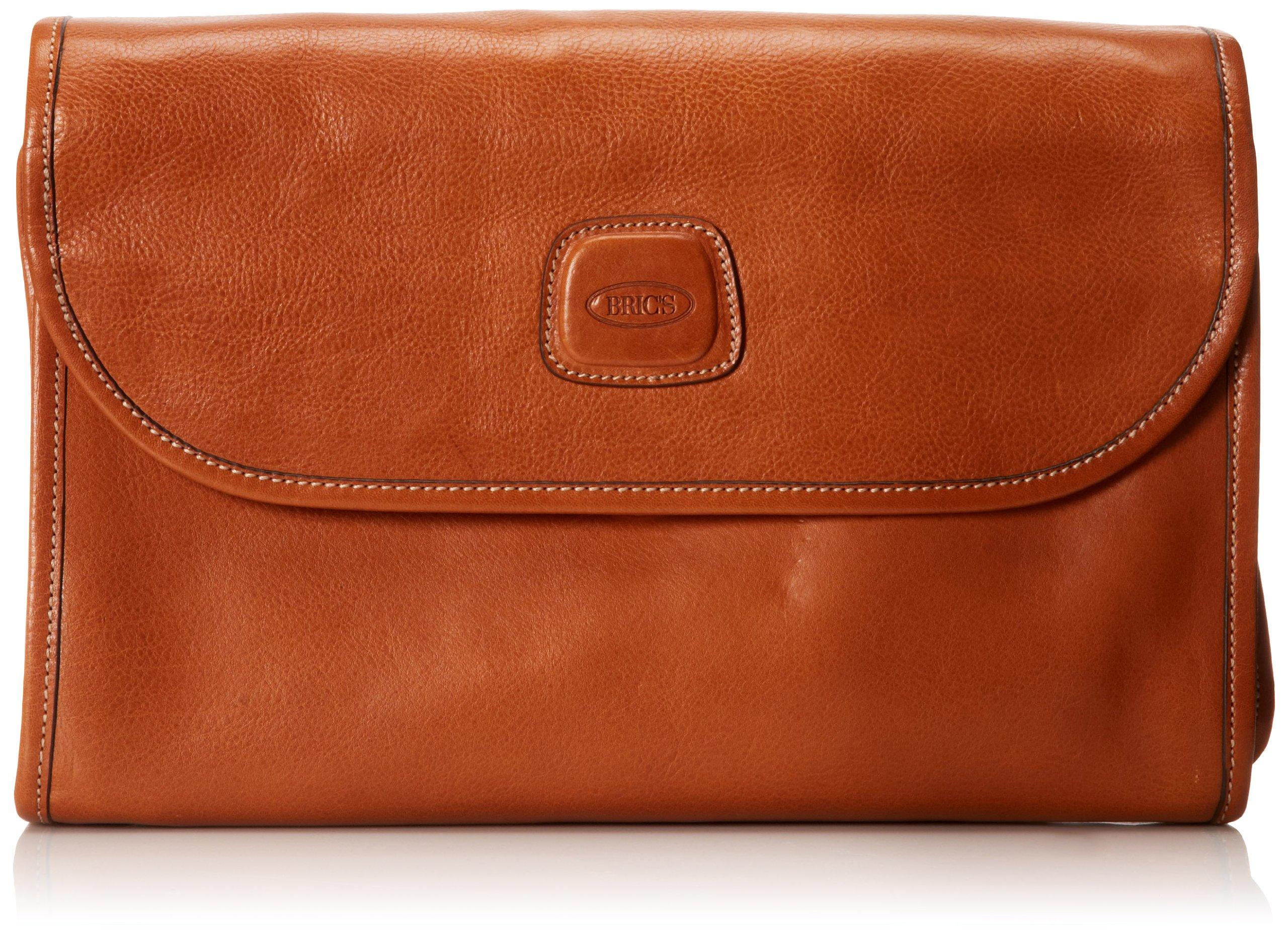 Bric's Luggage Life Pelle Tri-Fold Traveler, Cognac, One Size