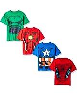 Marvel Boys' Costume 4-Pack T-Shirt
