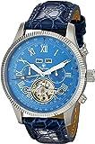 Burgmeister Armbanduhr für Herren mit Analog Anzeige, Automatik-Uhr und Lederarmband - Wasserdichte Herrenuhr mit zeitlosem, schickem Design - klassische Uhr für Männer, Malabo