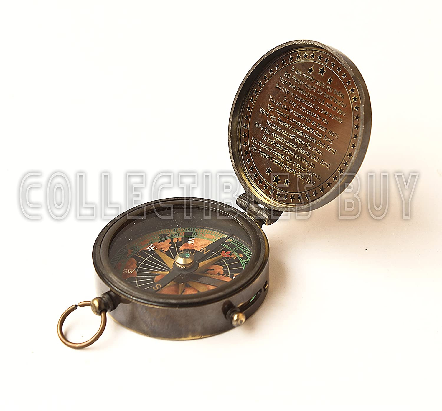Collectibles Buy Marine S Peppers Welt Karte Kompass Lonely Band Nautisches Instrument Vintage Navigated Geräte