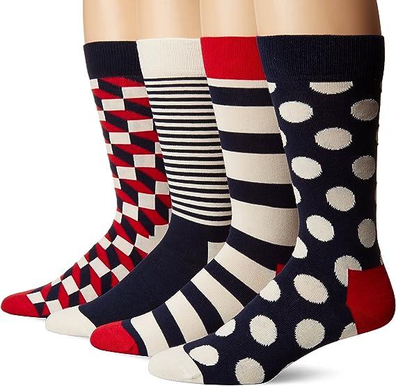 Happy Socks Calzini riempiti Ottico-Rosso