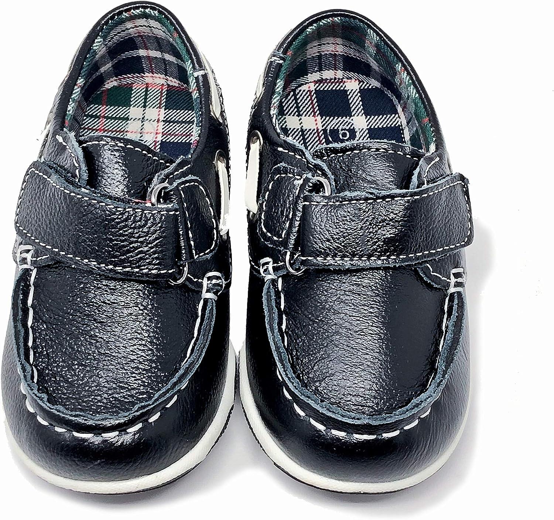 Amazon.com: Zapatillas de piel negra Casual para niños, 3 M ...